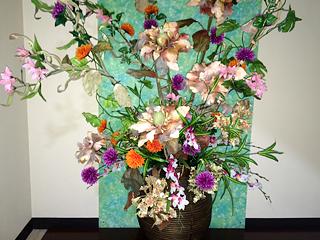 花のディスプレー
